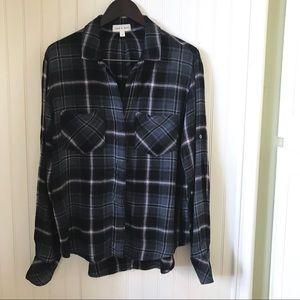 Cloth & Stone Plaid Flannel Women's Shirt Size M